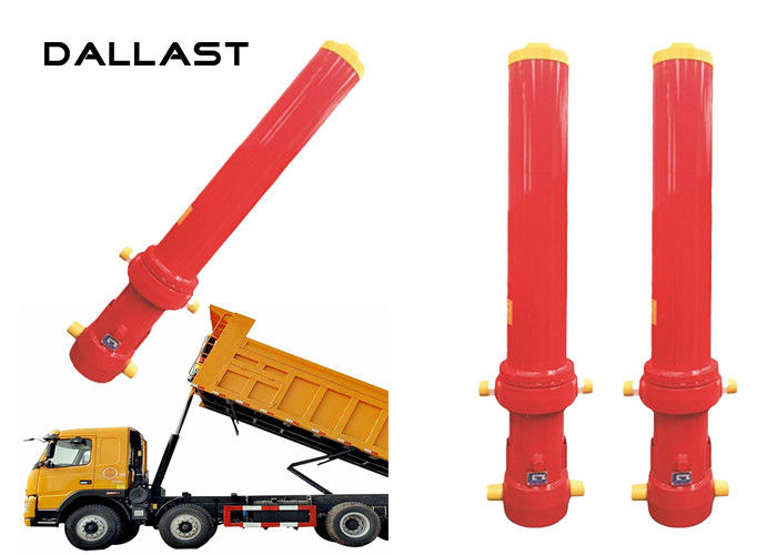 Dump Truck Telescopic Cylinder Multistage Stage 4 Chromed Hydraulic Cylinder